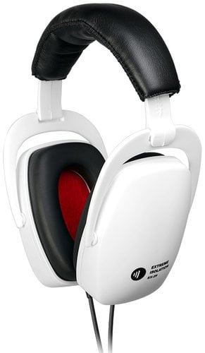 Direct Sound EX-29-WHITE Extreme Isolation Headphones in White with -29 dB Passive Isolation EX-29-WHITE