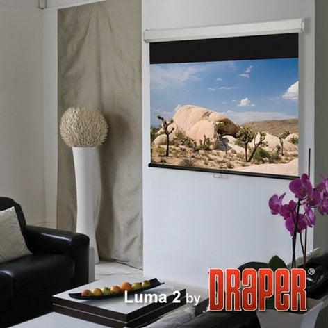 """Draper 206005 Screen, Projection, Luma 2, 72"""" x 96"""", Matte White 206005"""