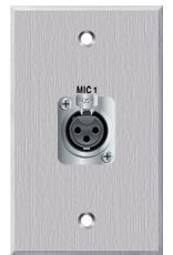 PanelCrafters PC-G1300-E-S-C One XLR-F for Mic on 1 Gang Wallplate PC-G1300-E-S-C