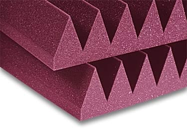 "Auralex 4SF22CHA Acoustic Panel, 4"", Wedge, StudioFoam,  2' x 2', Charcoal (Burgundy shown) 4SF22CHA"