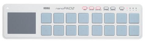Korg nanoPAD 2 Drum Pad Controller USB in White NANOPAD2WH