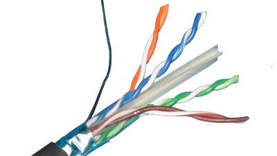 Liberty AV Solutions 24 4P L6SH BLK CAT6 SHIELDED TWISTED PAIR ...