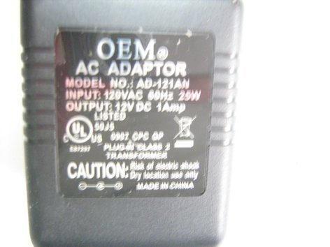 M-Audio 4000-50355-00 M-Audio/Axiom Keyboards Power Supply 4000-50355-00