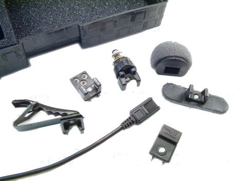 TRAM Microphones TR50BML+ Lavalier Microphone with a Lectrosonics TA5F connector, Black TR50BML+