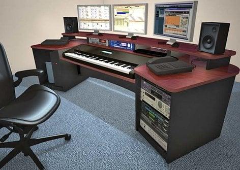 Omnirax FRCK88 Force Keyboard Mahogany Composing Workstation FRCK88