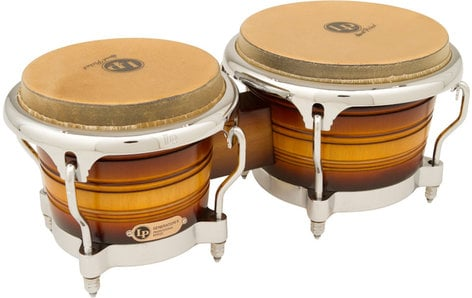 Latin Percussion LP201AX-2MSB Generation II Bongos in Matte Sunburst Finish with Chrome Hardware LP201AX-2MSB