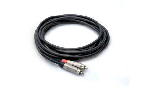 Hosa HRR-015 Pro Unbalanced Interconnect Cable, REAN RCA to RCA, 15ft HRR-015