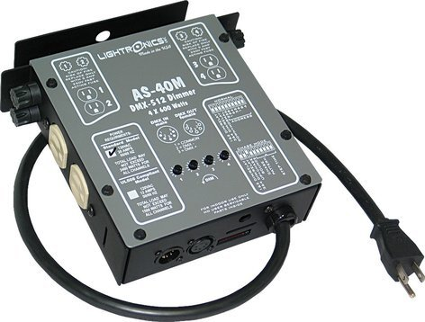 Lightronics Inc. AS-40M 4 Channel Compact DMX/Manual Dimmer AS-40M