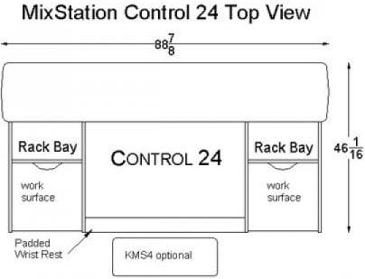 Omnirax MXC24 MixStation for Digidesign Control 24 Mixer MXC24