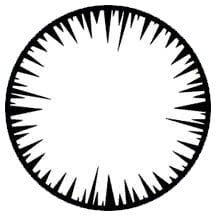 Rosco Laboratories 77614 Jagged Vignette Gobo 77614