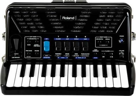 Roland FR1X V-Accordian Piano-Type Digital Accordion in Black with Speaker FR1X-BK