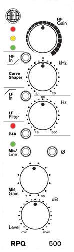 AEA RPQ500 1-Channel 500 Series Microphone Preamplifier