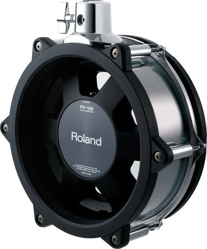 "Roland PD108BC Black Chrome 10"" V-Pad for TD30KV V-Drums Kit PD108BC"