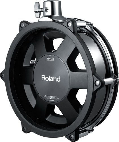 "Roland PD128BC Black Chrome 12"" V-Pad for TD30KV V-Drums Kit PD128BC"