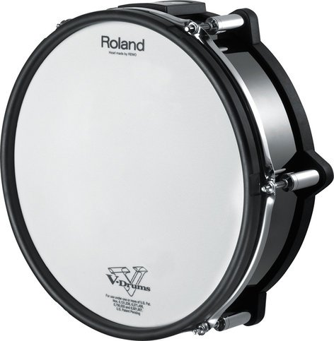 roland pd128sbc 12 dual zone mesh head snare drum trigger v pad no mount full compass systems. Black Bedroom Furniture Sets. Home Design Ideas