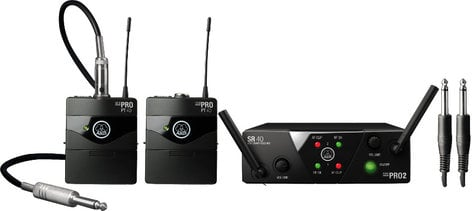 AKG WMS40-INST-MINI2 WMS40 MINI2 Dual Channel Wireless Instrument System with 2 Bodypack Transmitters WMS40-INST-MINI2