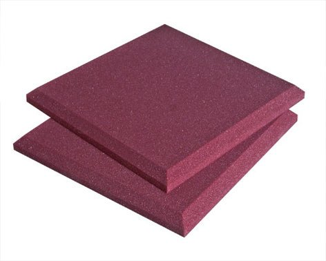 "Auralex SFLATPUR 16pk, 2"" SonoFlat, 2' x 2', Purple (Burgundy shown) SFLATPUR"