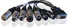 RME BO9632XLRMKH 15-Pin Balanced Analog Breakout Cable for HDSP 9632, HDSPe AIO BO9632XLRMKH