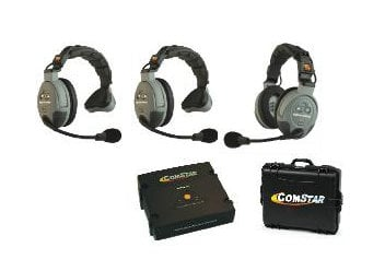 Eartec Co COMSTAR-XT3 3 Person Wireless Intercom System COMSTAR-XT3