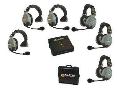 Eartec Co COMSTAR-XT6 6 Person Wireless Intercom System COMSTAR-XT6