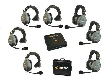 Eartec Co COMSTAR-XT7 7 Person Wireless Intercom System COMSTAR-XT7
