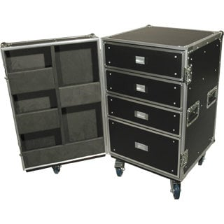 Grundorf Corp PRO-DC002C Pro Series Drawer Cases, Large Casters and Two Brakes PRO-DC002C