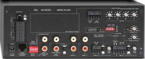 Radio Design Labs HD-RA35U 35 Watt, 4/8 Ohm Remote Mixer Amplifier with Power Supply HD-RA35U
