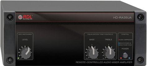 Radio Design Labs HD-RA35UA 35 Watt, 25/70/100V Remote Mixer Amplifier with Power Supply HD-RA35UA