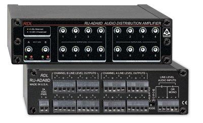 Radio Design Labs RU-ADA8D 2x8 Stereo Audio Distribution Amplifier RUADA8D