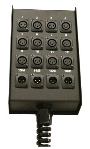 RapcoHorizon Music S16BPPR 12 x 4 Stage Box,  Pre-Punched with Relief S16BPPR