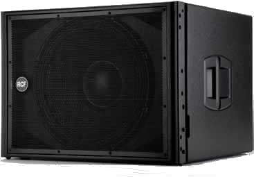 "RCF HDL18-AS 1000W 18"" Active Subwoofer in Black HDL18-AS"