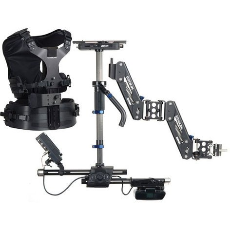 Steadicam ZEBXHDPVZZ Zepher Hi-Def System Zephyr Hi-Def System: Sled/V-Mount/Arm/Vest/HD Monitor/Hard Case/Accessories/(2)PowerCube, VL-2 Charger ZEBXHDPVZZ