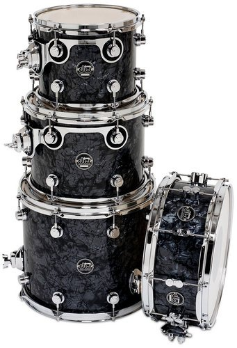 "DW DRPFTMPK04 Performance Series HVX Tom Pack 4 in FinishPly Finish with 5.5"" x 14"" Snare Drum: 8x10"", 9x12"", 12x14"" DRPFTMPK04"