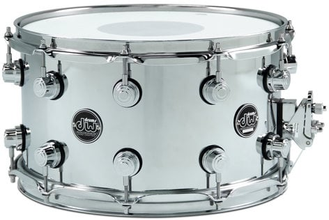 """DW DRPM0814SSCS 8"""" x 14"""" Performance Series Steel Snare Drum in Chrome DRPM0814SSCS"""