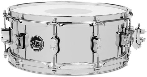 """DW DRPM5514SSCS 5.5"""" x 14"""" Performance Series Steel Snare Drum in Chrome DRPM5514SSCS"""
