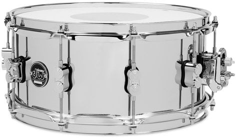 """DW DRPM6514SSCS 6.5"""" x 14"""" Performance Series Steel Snare Drum in Chrome DRPM6514SSCS"""