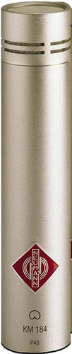Neumann KM 184 ni Cardioid Condenser Microphone in Satin Nickel Finish with K40 Capsule and Accessories KM184-NI