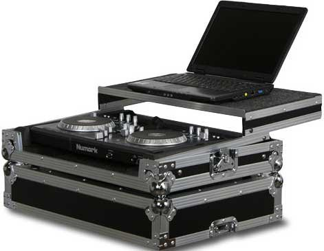 Odyssey FZGSTKS4 Flight Case for Traktor S4, Numark iDJ3 or Mixtrack Pro, or American Audio VMS4 Controller FZGSTKS4