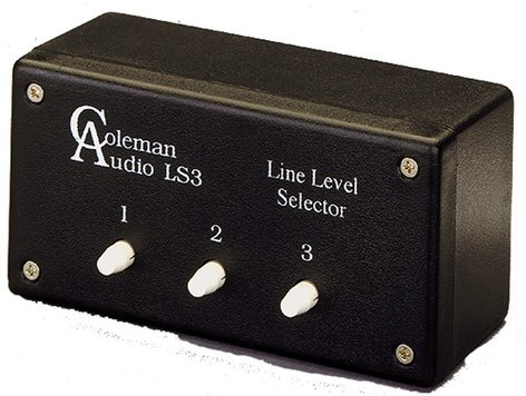 Coleman Audio LS3 Line Selector, Balanced In/Out LS3