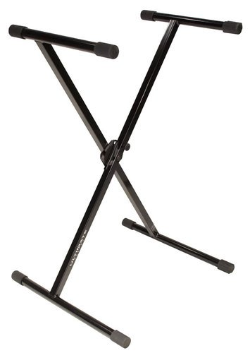 Ultimate Support IQ-1000 X-Style Single-Braced Keyboard Stand in Black with Patented Memory Lock System IQ1000