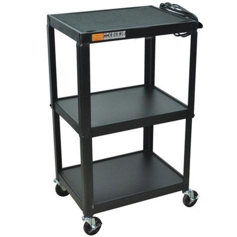 AmpliVox SN3365 3-Shelf AV Cart with Casters SN3365