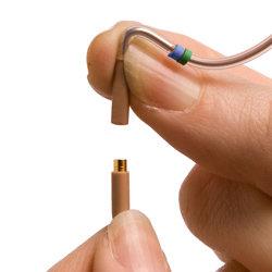Countryman E2CABLEB1.5-SL E2 Cable, for Shure wireless, TA4F connector, 1.5mm, Black (Tan shown) E2CABLEB1.5-SL