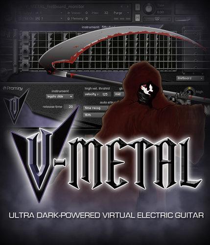 Prominy, Inc V-METAL Dark-Powered Virtual Electric Guitar (Prominy Part #: PVI004-VM) V-METAL