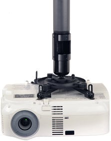 Peerless PJF2-UNV-S Silver Universal Spider Projector Ceiling Mount, 50 lb Wt. Cap. PJF2-UNV-S