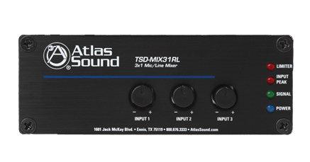 Atlas Sound TSD-MIX31RL  3ch Mic/Line Mixer TSD-MIX31RL
