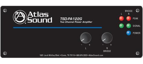 Atlas Sound TSD-PA122G Power Amp Stereo 12W TSD-PA122G