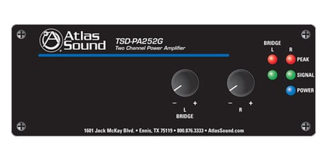 Atlas Sound TSD-PA252G Power Amp, Stereo 25W TSD-PA252G