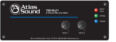 Atlas Sound TSD-RL21 Mixer 2 Channel mic/line TSD-RL21