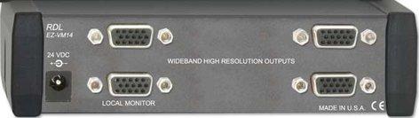 Radio Design Labs EZ-VM14 1x4 VGA/XGA Distribution Amplifier EZ-VM14