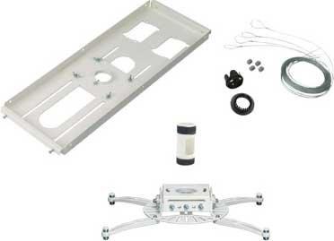 """Premier Mounts PDS-FCTA4W-QL  Projector Mount, T-Bar Adapter, 4"""" NPT, & Quick-Lock Cable PDS-FCTA4W-QL"""
